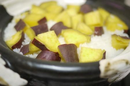 温たなべで炊いたさつま芋ご飯