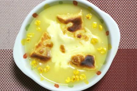 チーズ餅&コーンスープ