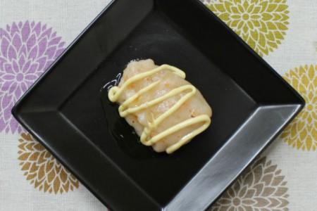 海老マヨ餅ごま風味