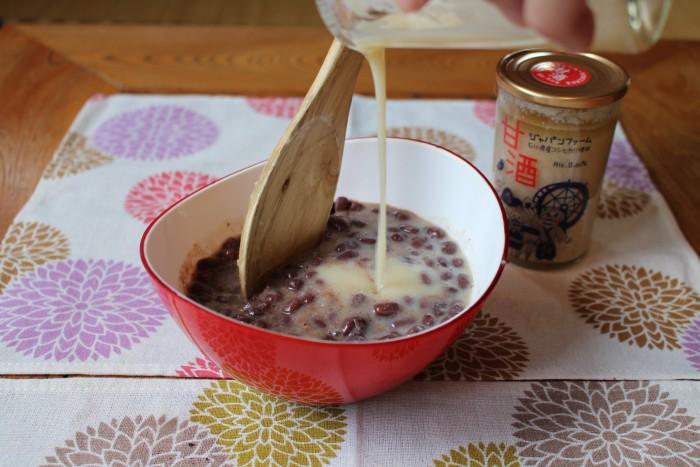 甘酒+小豆