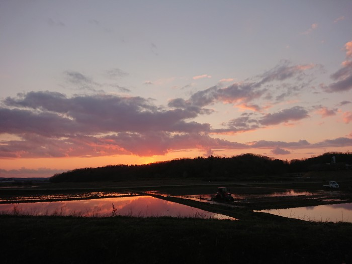 夕焼け 田舎