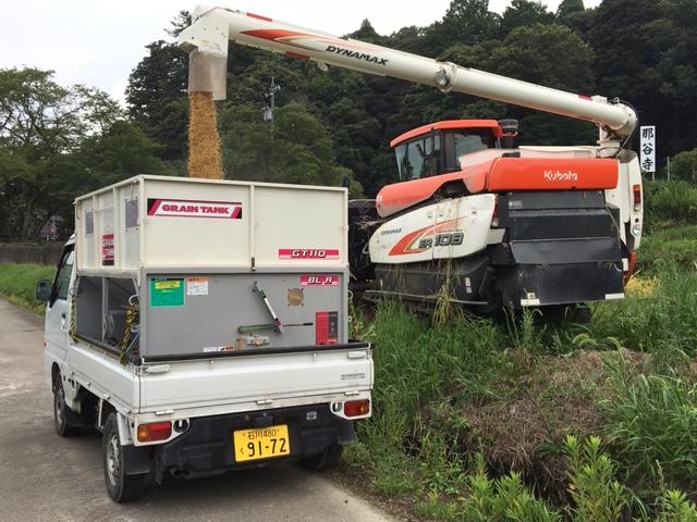 コシヒカリ トラックへ